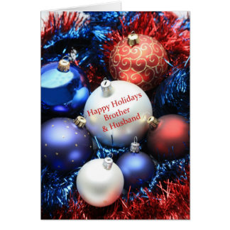 Brother & Husband  christmas ornaments card