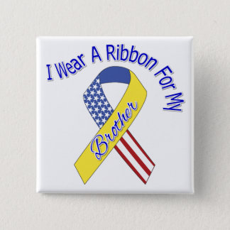 Brother - I Wear A Ribbon Military Patriotic 15 Cm Square Badge