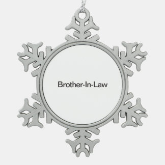 Brother-In-Law.ai Pewter Snowflake Decoration