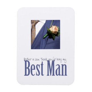 Brother in Law best man thank you Rectangular Photo Magnet