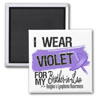 Brother-in-Law Hodgkins Lymphoma Ribbon Magnets