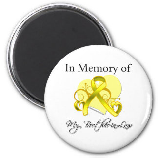 Brother-in-Law - In Memory of Military Tribute 6 Cm Round Magnet