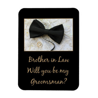 Brother in Law  Please be my Groomsman Rectangular Photo Magnet