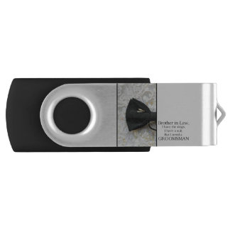 Brother in Law  Please be my Groomsman Swivel USB 3.0 Flash Drive