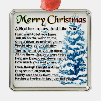 Brother in Law Poem - Christmas Design Christmas Tree Ornament