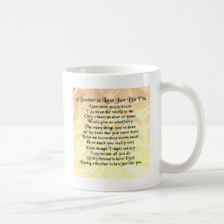 Brother in Law Poem - Cream Coffee Mug