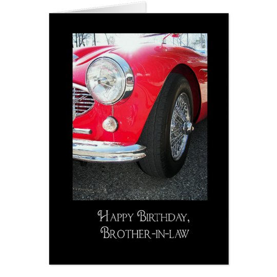 Brother-in-law's birthday-red sport car card