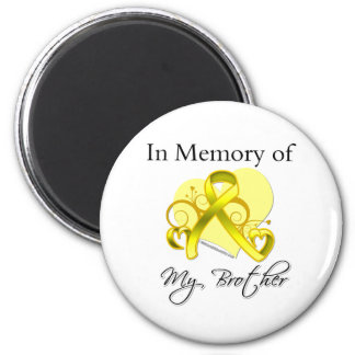 Brother - In Memory of Military Tribute 6 Cm Round Magnet