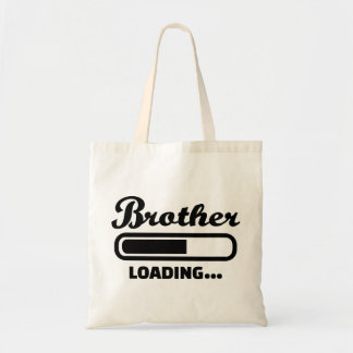 Brother loading tote bags