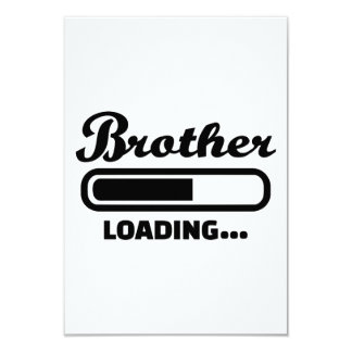Brother loading personalized announcement cards