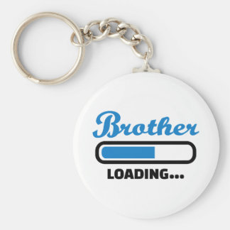 Brother loading basic round button key ring