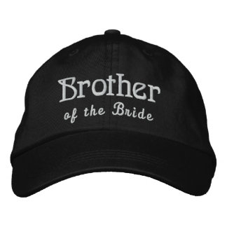 BROTHER of the BRIDE Custom Name BLACK B4 Embroidered Hat