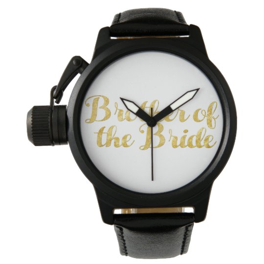 Brother of the bride gold watch