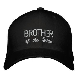 BROTHER of the Bride hat Embroidered Baseball Caps