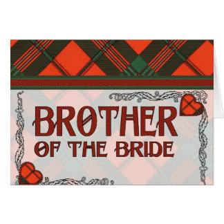 Brother of the Bride - Invitation - Scott Tartan