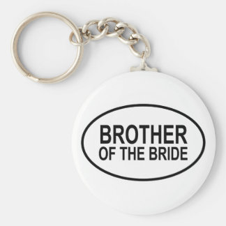 Brother of the Bride Wedding Oval Basic Round Button Key Ring