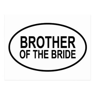 Brother of the Bride Wedding Oval Postcard