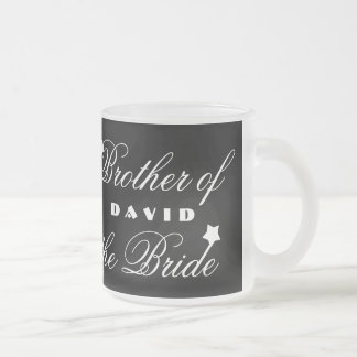 Brother of the BRIDE with Hearts A01A7 Frosted Glass Coffee Mug