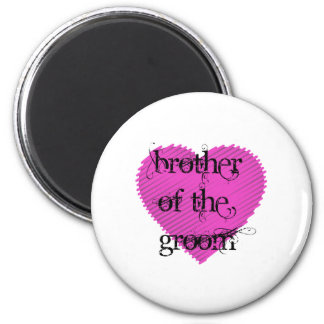 Brother of the Groom 6 Cm Round Magnet