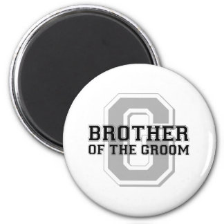 Brother of the Groom Cheer 6 Cm Round Magnet