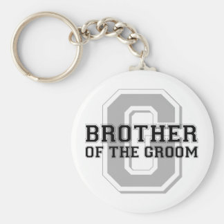 Brother of the Groom Cheer Basic Round Button Key Ring