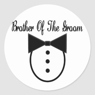 Brother of the Groom Round Sticker