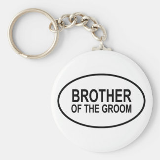 Brother of the Groom Wedding Oval Basic Round Button Key Ring