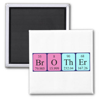 Brother periodic table name magnet