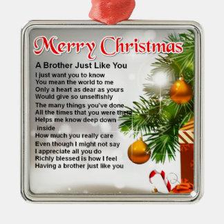 Brother Poem  - Christmas Design Christmas Tree Ornaments