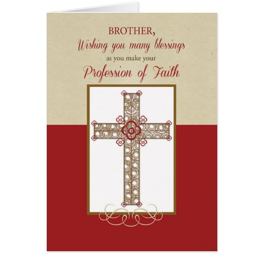 Brother, RCIA Blessings on Profession of Faith, Cr Greeting Card
