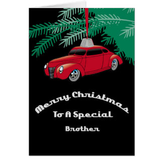 Brother Red Hotrod Christmas Card