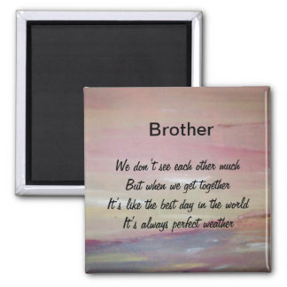 Brother Square Magnet