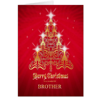 Brother, Stylized Christmas tree Christmas card