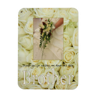 Brother Thanks for Walking me down Aisle Rectangular Photo Magnet