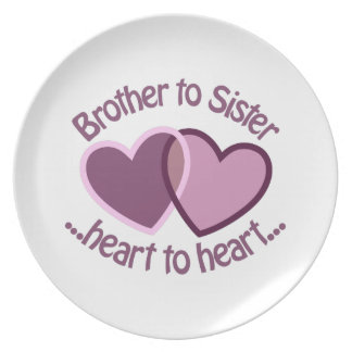 Brother To Sister Dinner Plates