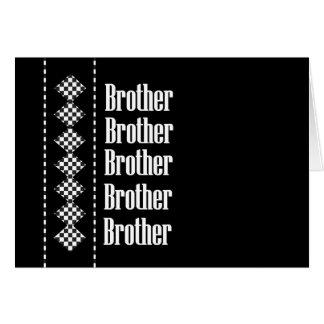 BROTHER Usher Invitation Diamond Checks