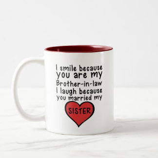 Brother with sister Happy married gift Two-Tone Coffee Mug