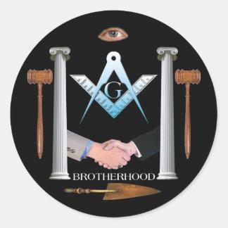 Brotherhood Classic Round Sticker