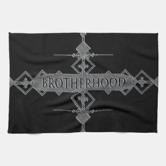 Brotherhood concept. tea towel