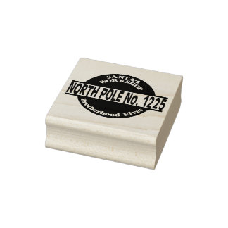 Brotherhood Of Elves Christmas Rubber Stamp