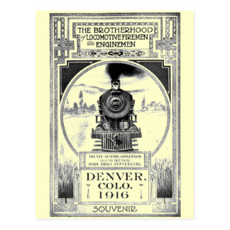 Brotherhood of Locomotive Firemen and Enginemen Postcard