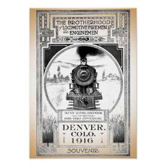 Brotherhood of Locomotive Firemen and Enginemen Poster