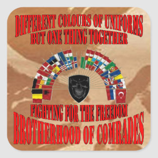 Brotherhood OF Military Comrades Square Sticker