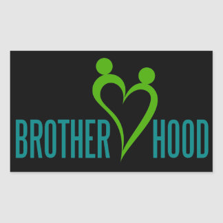 brotherhood rectangular sticker
