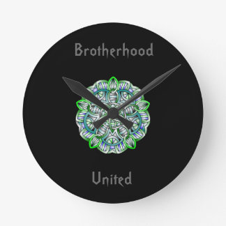 Brotherhood United Collection Round Clock