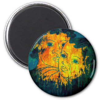 Brothers 6 Cm Round Magnet