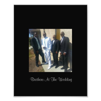 Brothers At The Wedding Photo Print