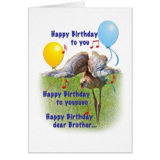 Brother's Birthday Card with Sandhill Crane Bird