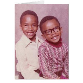 BROTHERS CIRCA 1974 CARD