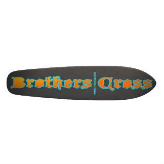 Brothers Cross grey deck Custom Skateboard